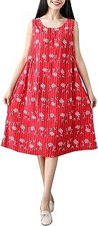 女性の夏のプリントノースリーブカジュアルルーズワンピースろんぐ ぬりえ もこもこ ドレス やすい おおきいサイズ ドレス かみかざり