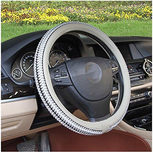 Couverture De Volant De Voiture Été Soie De Glace Enjoliveur De Roue Diamètre 38 Cm Confortable Respirant Mode Four Seasons Universal,Gray