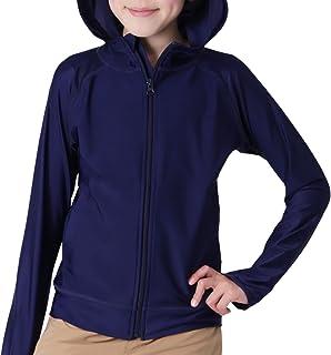 KICKS(キックス) ラッシュガード パーカー キッズ 全20色柄 110~150サイズ 長袖 UVカット UPF50 + KJR-210