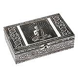 Marque : HAB & GUT HAB & GUT -BOX015V- Boîte á Bijoux en Aluminium, Bouddha, 20 x 12 x 6 cm