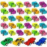 34 PCS Pull Back Cars Kids Toys Cars Mini Race Cars Playset for Boys Girls Bulk Cars Party Favors Toys Beach Toy Cars School Reward Prizes Random Color