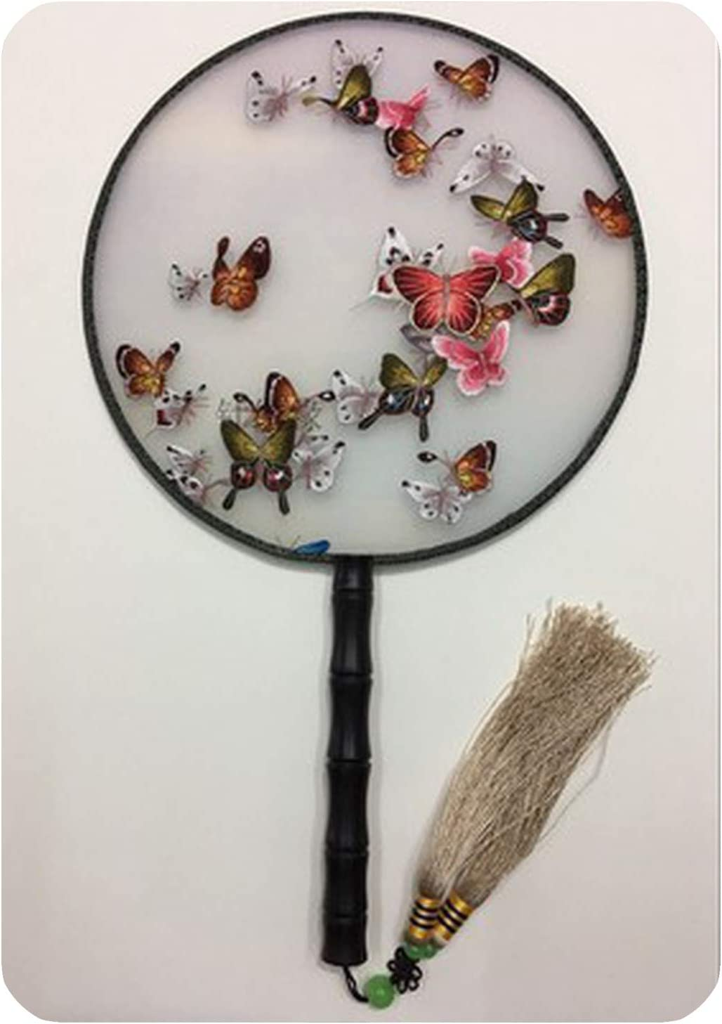 Factory outlet Handmade 100% Mulberry Silk Finished Max 87% OFF Suzhou Round Embroidery Fan