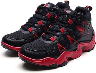 [D.IIZOO] 10cm 7cm身長アップ シークレットシューズ スニーカー メンズ 背が高くなる靴 ハイカット スポーツ カジュアル シューズ 通気性