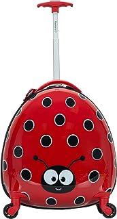 Rockland My First Luggage Polycarbonate Hardside Spinner, Ladybug (red) - B02-LADYBUG