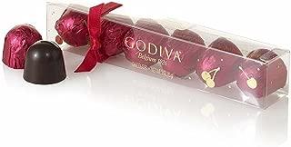 Godiva Chocolatier Holiday Gourmet Chocolate Coverred Cherry Cordials, Stocking Stuffer, 6 Count