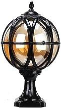 Exterior Rainproof Pillar Light Traditional Victoria Landscape Waterproof Pillar Light Column Lamp Aluminum Glass Globe Po...