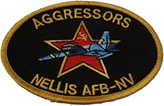 USAF Nellis AFB Nevada Aggressor Patch - Color - Veteran Owned Business.