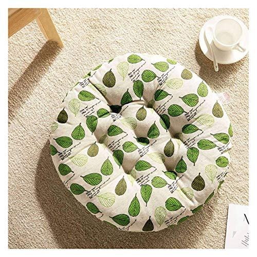 HLZY Outdoor Cushions for Patio Chairs Round Seat Cushion, Overstuffed Buttocks Chair Cushion, Cotton Linen Chair Pads, for Dining Chair Garden Chair Cushion Deck Chair Cushions