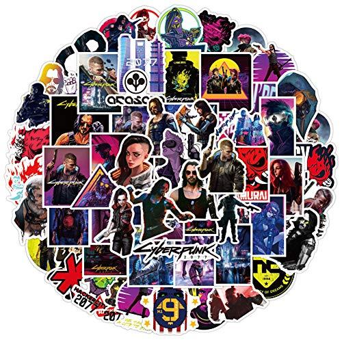 SZWL 100 Pacchetti di Adesivi, Adesivi Graffiti Cyberpunk Impermeabili Impermeabili in PVC,per Laptop, Skateboard, Valigie, Caschi, Chitarre, Laptop, Snowboard, Ecc