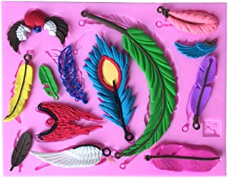 N/ A Alas de pájaro Fondant Molde de decoración de Silicona 3D DIY Herramientas de decoración de Pasteles Cocina Molde para Hornear