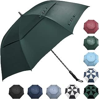 Prospo Golf Umbrella 62/68 inch Large Automatic Open Windproof Double Canopy Oversized Stick Vented Umbrellas