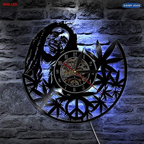 LTOOD Bob Marley 3D wandlamp antieke stijl Vinyl Record licht woonkamer kunst muur decoratieve lamp met kleur veranderen LED