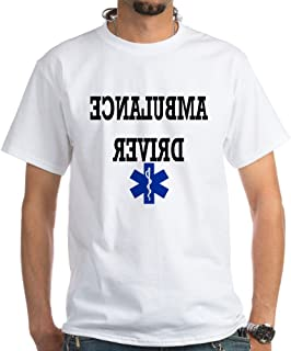 Ambulance Driver 100% Cotton T-Shirt, White
