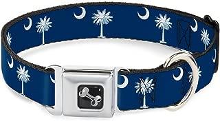 Buckle-Down Seatbelt Buckle Dog Collar - South Carolina Flags