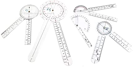EMI 5 Piece Goniometer Set - 12 inch, 8 inch, 6 inch, Finger, and 180 Degree EGM-512