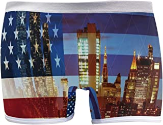 American Flag New York City Boyshort Panties Womens Sexy Seamless Underwear Brief Boy Shorts