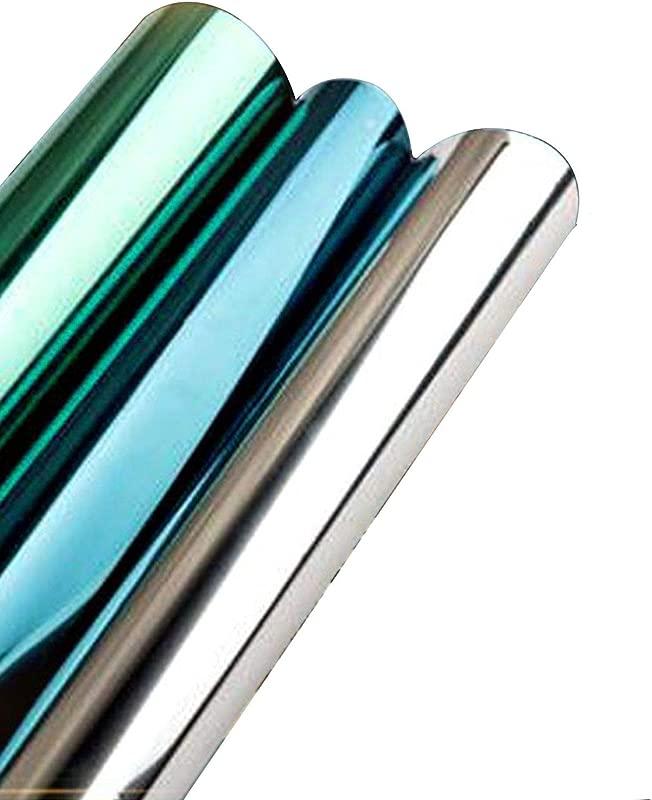 JIA WALK 30 40 50 60cm Window Sun Block Film Privacy Heat Film Anti UV Glass Films Static Non Adhesive Window Tint For Office Door Blue 60x500cm