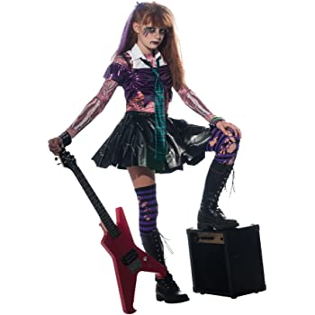 P tit payaso disfraz infantil Luxe Punk niña – , Multicolor ...