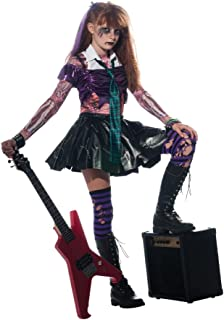 Girl Zombie Punk Rocker #2 Costume, Large