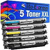Tito-Express PlatinumSerie 5 Toner XXL kompatibel mit HP CE310A CE311A CE312A CE313A 126A | Geeignet für HP Laserjet CP1021 CP1022 CP1023 CP1025 CP1025NW CP1026NW CP1027NW CP1028NW