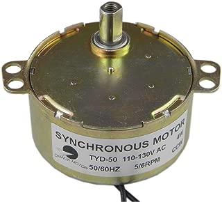 CHANCS TYD-50 Small Synchronous Gear Motor AC 110V 5-6RPM CCW Torque 6Kg.cm Flat Shaft For School Project