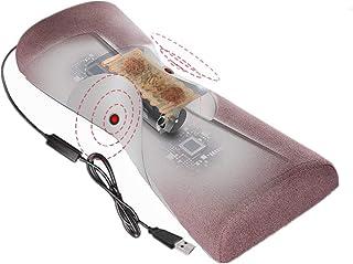 Colchoneta De Masaje Shiatsu Masajeador Cervical,Función de Calor Masajeador,Almohada de Soporte Cervical Corrección de Tracción Fisioterapia,Casa,Oficina Coche (Enchufe USB)