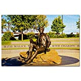 Estados Unidos América Kentucky Lincoln Monument Puzzle 1000 Piezas para Adultos Familia Rompecabezas Recuerdo Turismo Regalo