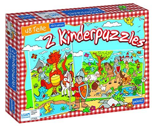 paletti Kinderpuzzle 2er Ritter und Drachen 2 x Puzzle mit je 48 Teilen