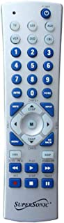 New 6 in 1 Silver Component Universal Remote Control for TV, DVD & VCR
