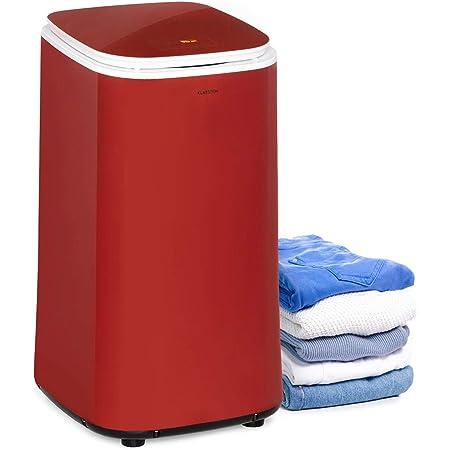 KLARSTEIN Zap Dry - Sèche-Linge, 820 W, capacité: 50 L, Design UniqueDry, Compact, Tambour en INOX, boîtier en Plastique, Commande Tactile, Couvercle en Verre de sécurité - Rouge