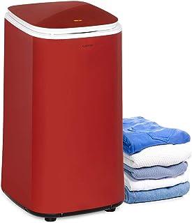 Klarstein Zap Dry Wäschetrockner, 820 W, Kapazität: 50 L, UniqueDry Design, geringer Platzbedarf, Edelstahl-Trommel, Kunststoffgehäuse, Touch-Bedienfeld, Deckel aus Sicherheitsglas, rot