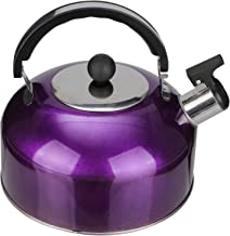 Whistling Tea Kettle Stainless Steel Stovetop Whistling Tea Pot Water Kettle for Home Kitchen Camping Hiking