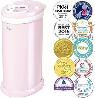 ubbi diaper pail light pink