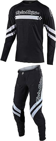 Black Troy Lee Designs 2020 SE Ultra Pant Factory White