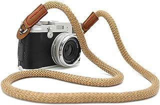 LXH uniwersalny vintage pasek na aparat ręcznie wykonany miękki bawełniany pasek na szyję do Leica Canon Nikon Fuji Olympu...