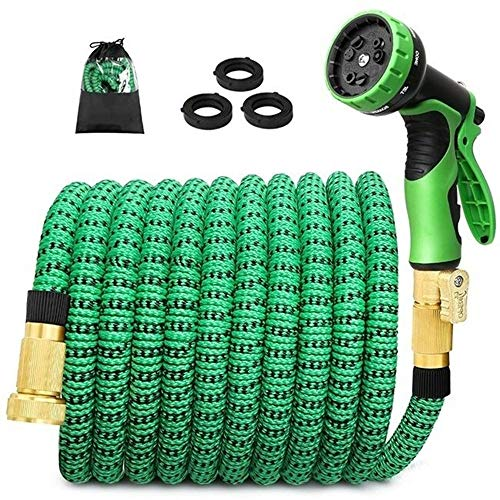 Expandable Garden Magic Waterslang EU Version High Pressure Flexible Hose Car Wash Plastic Tuinslang Te Drenken Met Spray Gun - Groen (Size : 75FT)