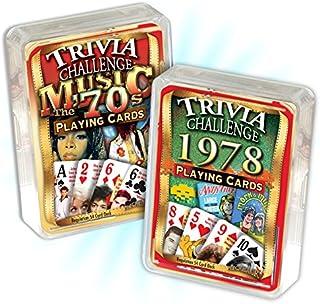 Flickback 1978 Trivia Playing Cards & 1970`s Music Trivia Birthday Combo