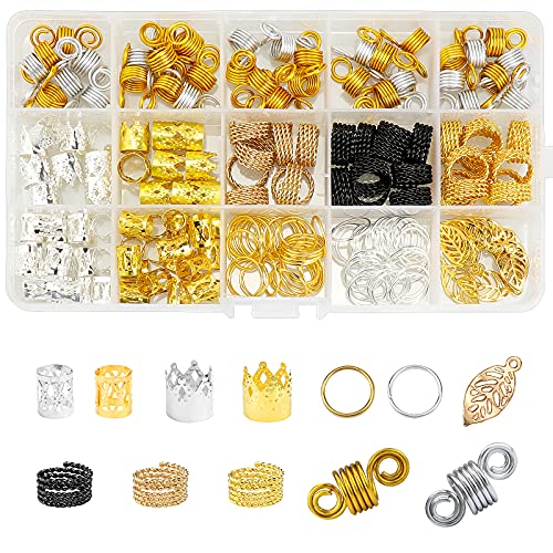 Dreamtop Lot de 200 accessoires en aluminium pour cheveux avec boîte de rangement