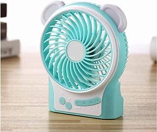SHANGRUIYUAN-Mini Fan Portable Mini USB Fan Summer Multi-Function Desktop Fan Rechargeable Handheld 3 Modes Wind Speed (Color : Blue)