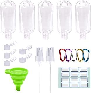 Botellas de viaje portátiles a prueba de fugas recargables de plástico vacías embudo Cabezal rociador desinfectantes de ma...