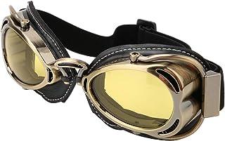 YINAIER Gafas A Prueba De Viento, Gafas MTB, Gafas De Ciclismo sobre Gafas, Gafas Protectoras para Montar Casco A Prueba De Viento Anti-UV Gafas En Forma De Arco (Amarillo)