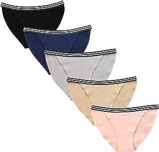 【OKEER】ショーツ レディース 純綿 ローウエストなランジェリー 高通気性と伸縮性の女性美形三角ショーツ(5枚セット)
