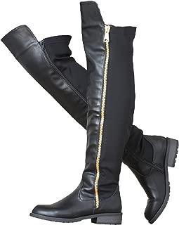 ShoBeautiful Women's Winter Low Heel Knee High Riding Boots Over The Knee Boot ZY01