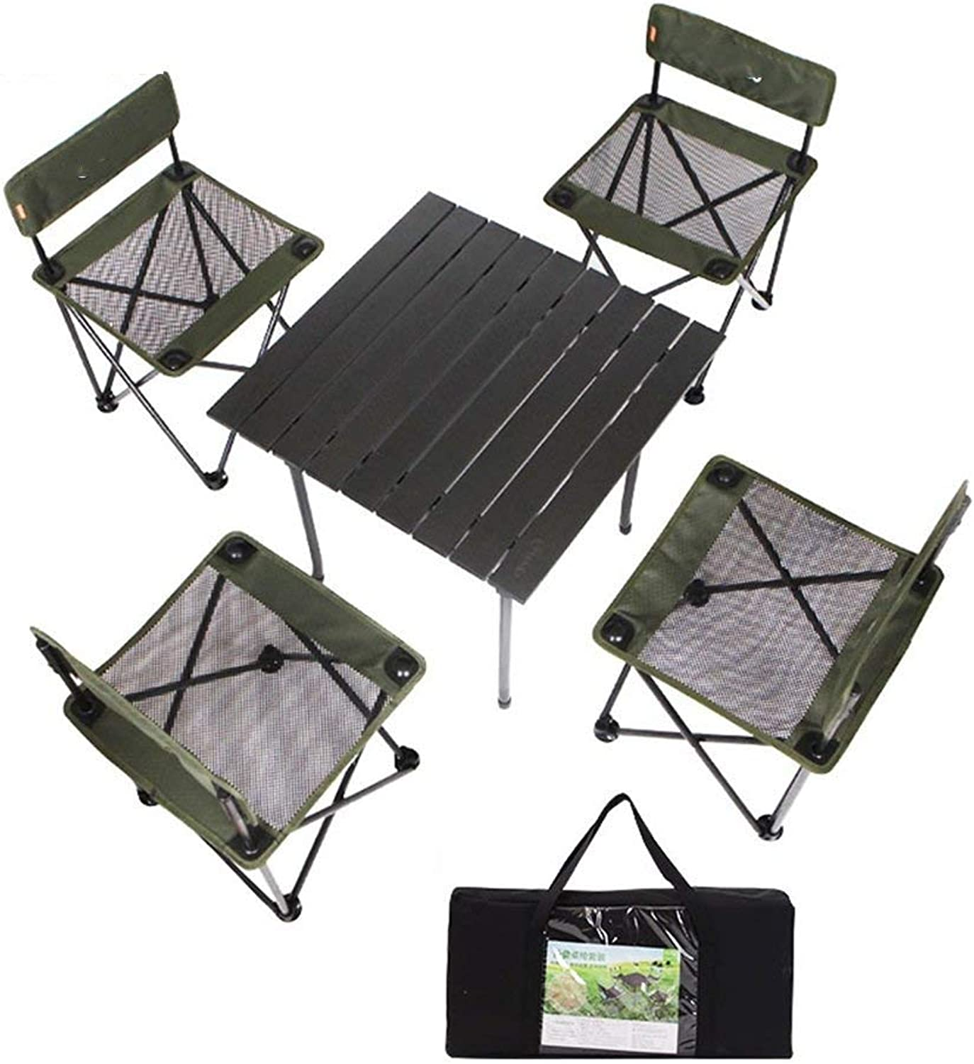 Outdoor Folding Wild SelfDriving Portable Picnic and Chair Set of 5 Multifunction
