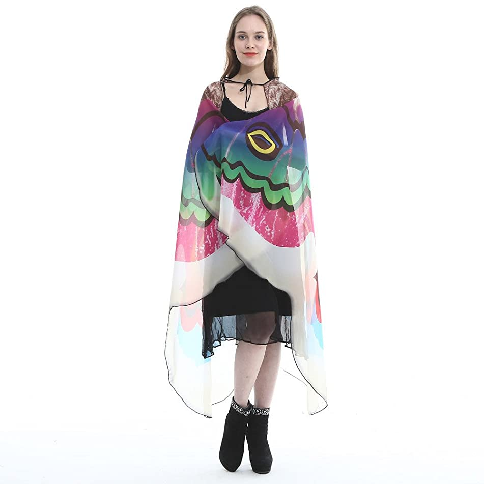 iHHAPY Shawls and Wraps-Mother's Day Gift Soft Long Butterfly Wings Scarf Scarves Cape Lightweight Wrap Stole
