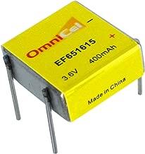 OmniCel ER651615 3.6V 400mAh Prismatic Lithium Battery BL-4PN For Memory backup power, Medical equipment, Radiocommunication, Earthquake tester, Taximeter, TPMS Automobile tire pressure monitor