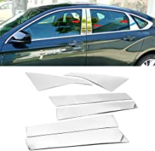LJ INTERNATIONAL Quality Accessories 6pcs Set Stainless Steel Door Pillar Moldings Compatible with Chevy Impala
