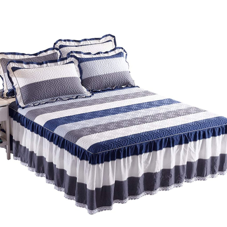 つま先カカドゥ更新するコットンのベッドスカート豪華なプレミアム品質しわと退色耐性マイクロファイバーマルチフリル滑り止め保護ケース - ほこりを追加 (色 : M m, サイズ さいず : 180 × 220cm+pillowcase)