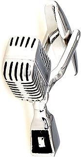 MRCUFF Microphone Pair Cufflinks in a Presentation Gift Box & Polishing Cloth