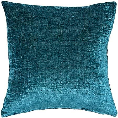 Amazon Com Pillow Décor Venetian Velvet Peacock Teal Throw Pillow 12x20 Home Kitchen